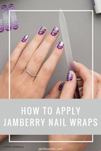 How to apply Jamberry nail wraps