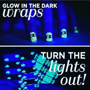 Glow in the dark jamberry halloween wraps
