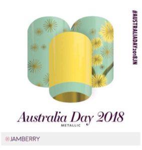 Australia Day nails