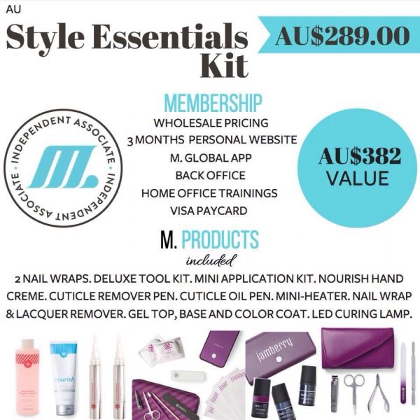 Join M Global with the style essentials starter pack. Join Jamberry